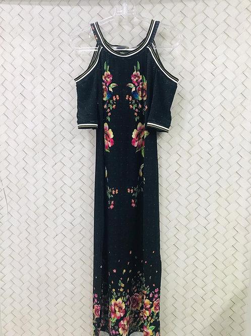 Vestido Malha Midi Floral FARM