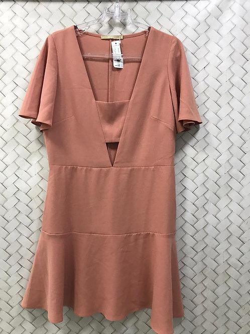 Vestido Crepe Rosê Simples HIT