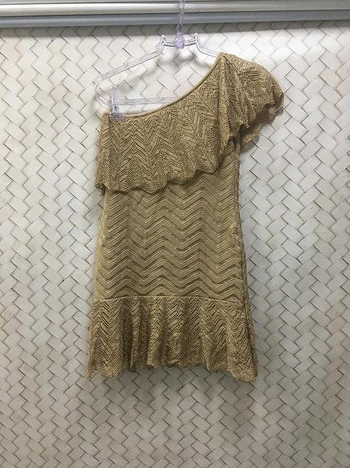 Vestido Linha Nude Um Ombro HIT