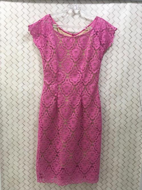 Vestido Pink Renda S/M
