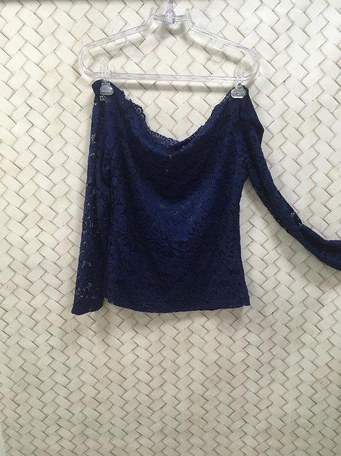 Blusa Renda Azul M/L
