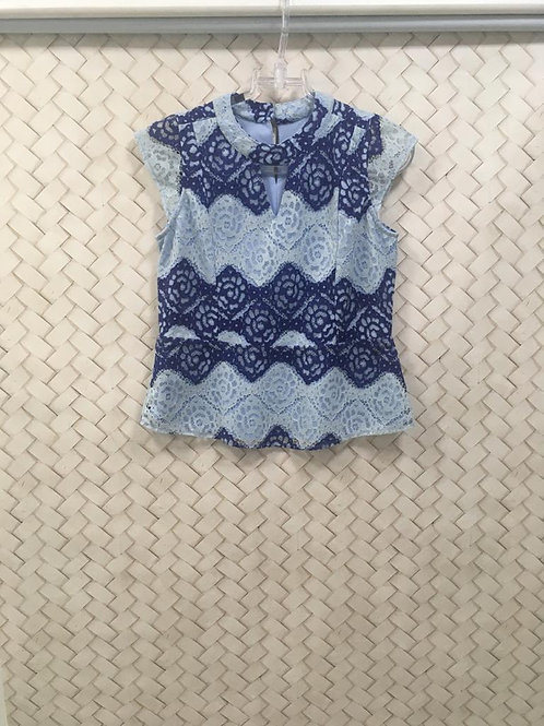 Blusa Renda Azul
