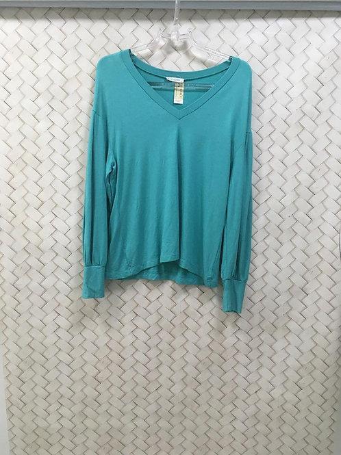 Blusa Malha Azul ROCK LOLA