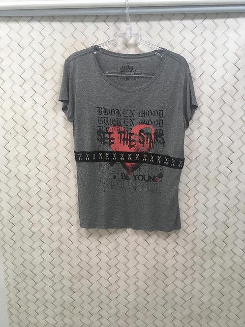 T-shirt Cinza GRUNGE
