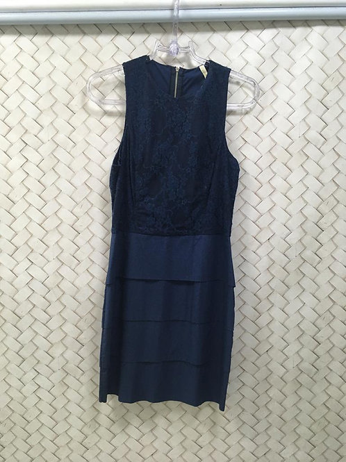 Vestido Azul Com Renda JO FASHION
