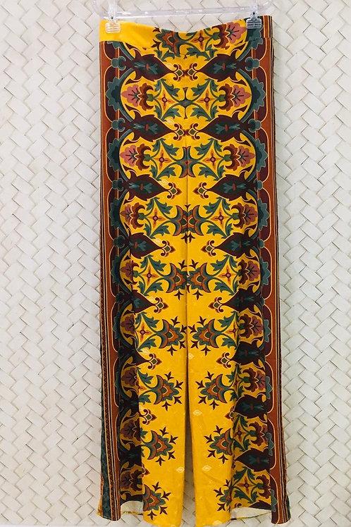 Pantalona Floral Mostarda CONFESSION