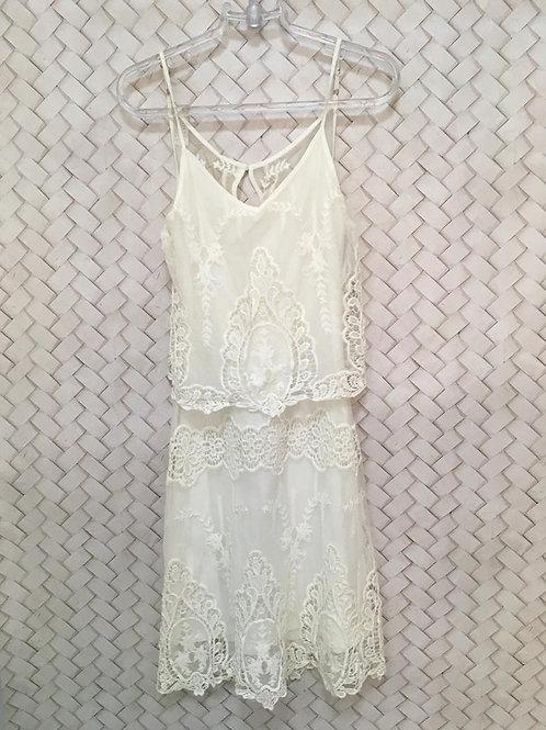 Vestido Branco Renda1273