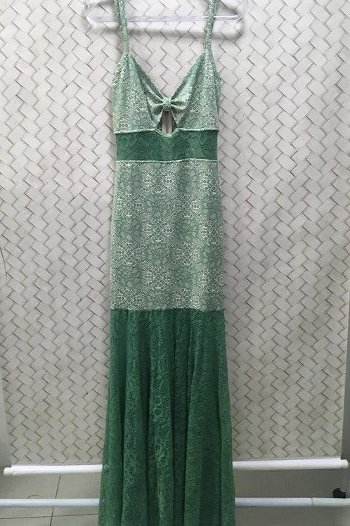 Vestido Longo Verde Estampado HIT