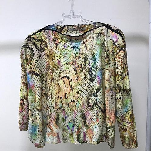 Blusa Malha Estampada SHOULDER