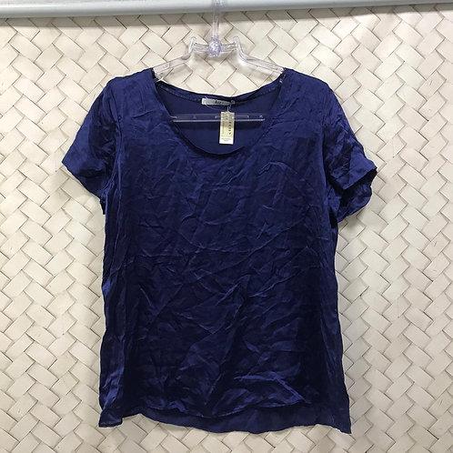 Blusa Seda Azul HIT