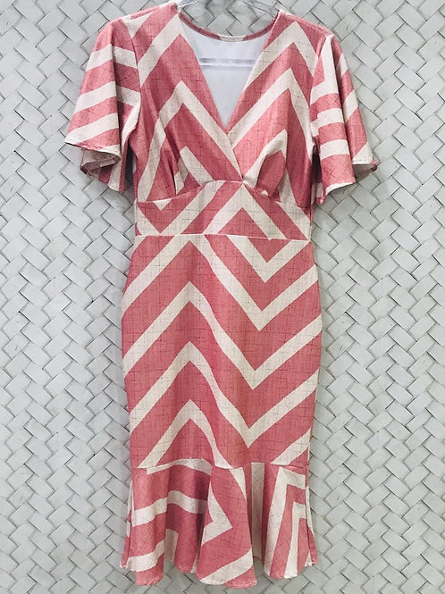 Vestido Estampado Rosê