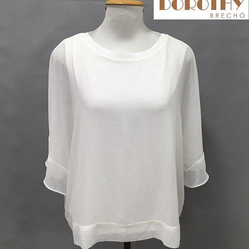 Blusa Branca Crepe ZARA