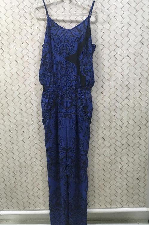Macacão Estampado Azul ATEEN P/ C&A
