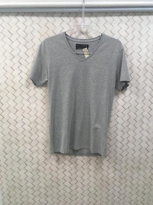 T-shirt Masculina Cinza ZARA