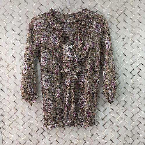 Camisa Floral Crepe 1264