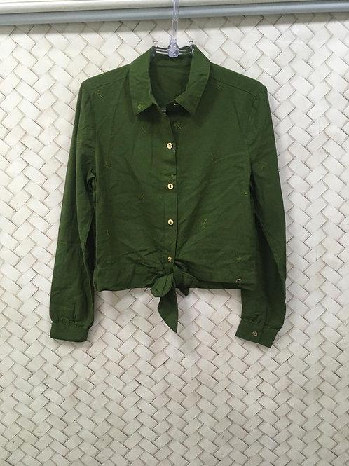Camisa Verde Linho AGUA DE COCO P/ C&A