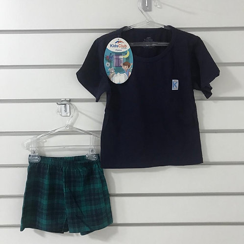 Pijama Azul Short e Blusa KIDS CLUB