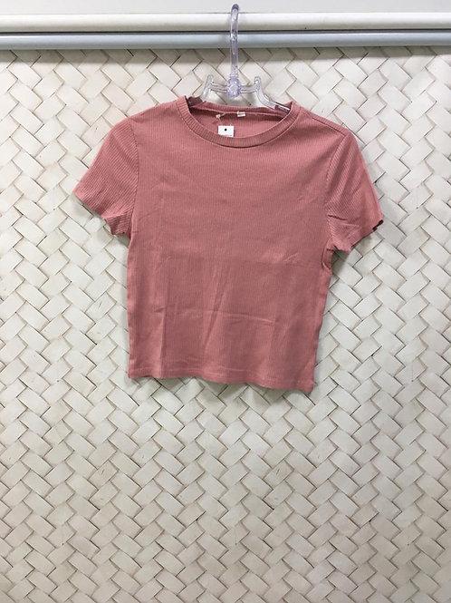 Blusa Canelada Rosa