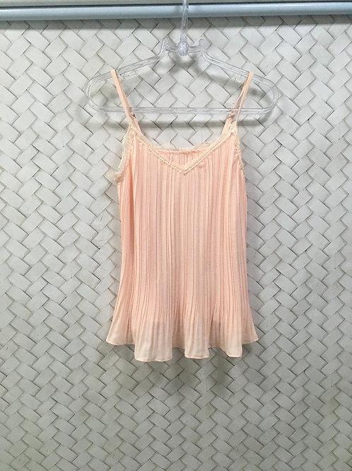 Camiseta Plissada Rosê