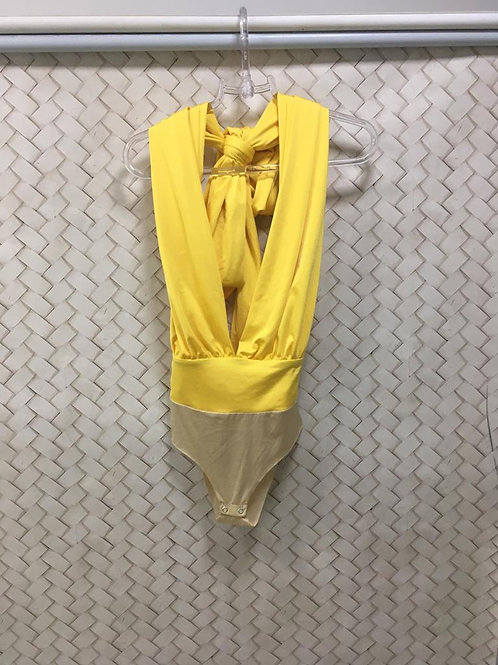Body Amarelo Malha Fria HIT