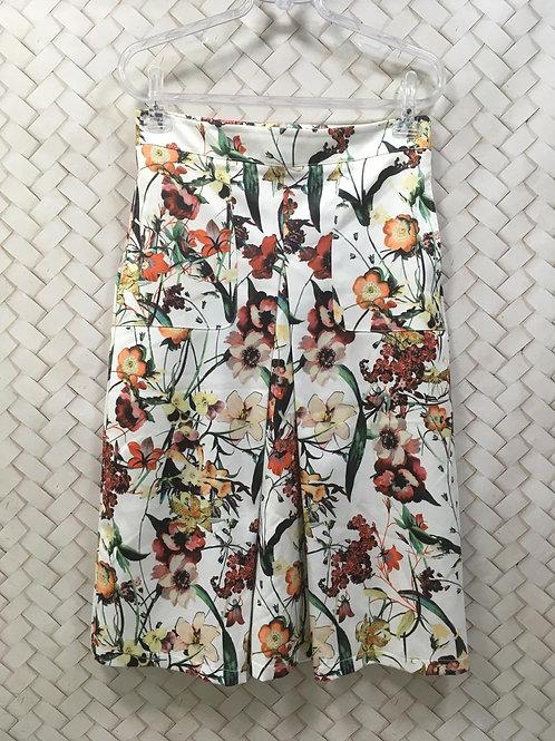 Saia Branca Floral LUIGI BERTOLLI