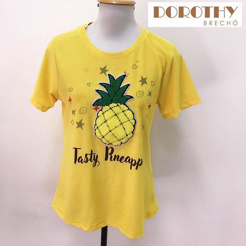 Blusa Amarela Abacaxi MARIÁ