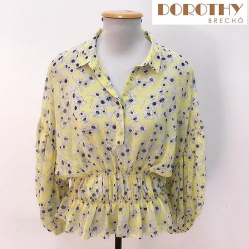 Blusa Amarela Floral ZARA