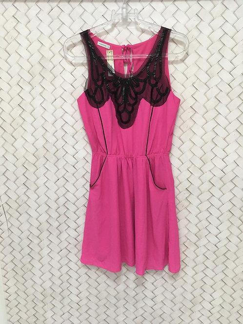 Vestido Pink e Preto MAXIMA