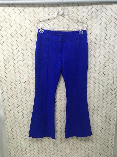 Calça Azul Flare Camurça SHOULDER