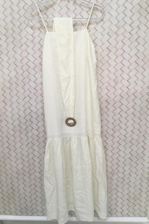 Vestido Branco C/ Cinto Midi DRESS TO