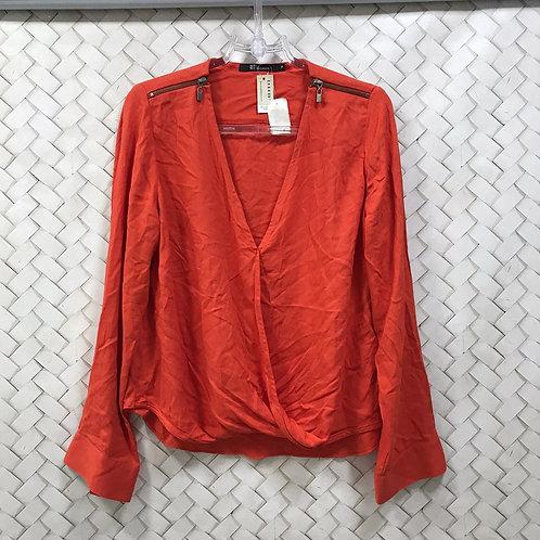 Camisa Laranja Crepe HIT