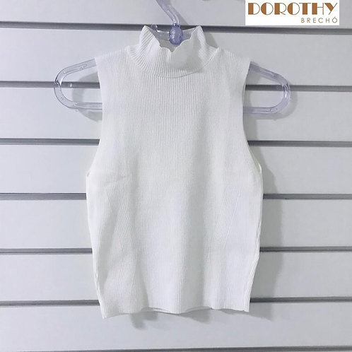 Blusa Branca Canelada ZARA