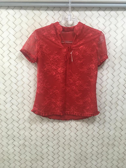 Blusa Red Renda