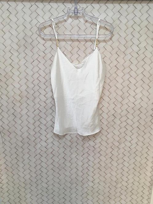 Camiseta Cetim Branca EVA BELLA