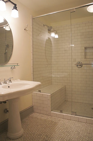 The luxurious bath in The Writer's Room at The Baker House Bed & Breakfast