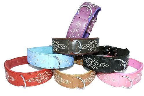 *PRE ORDER* Large dog collars diamante stitch design