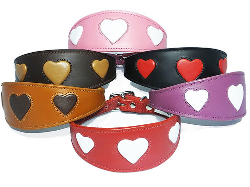 *PRE ORDER* HEART LEATHER APERTURE GREYHOUND COLLAR