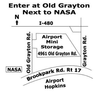 Airport Mini Storage Map