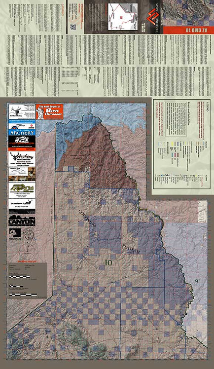 Arizona Hunt Unit 10 Map & App Package