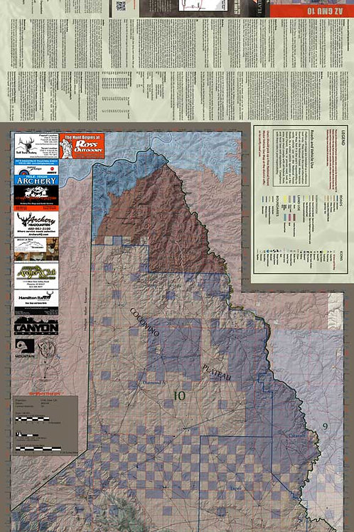 Arizona Hunt Unit 10 Map