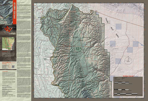 Map Of East Arizona.Arizona Hunt Unit 12a East Map App Package