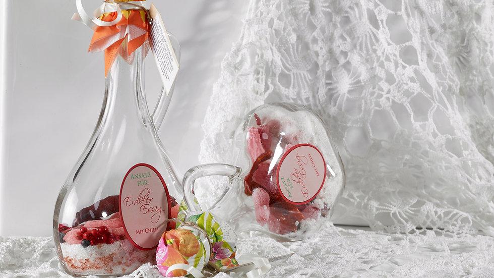 Erdbeer Essig mit Chili