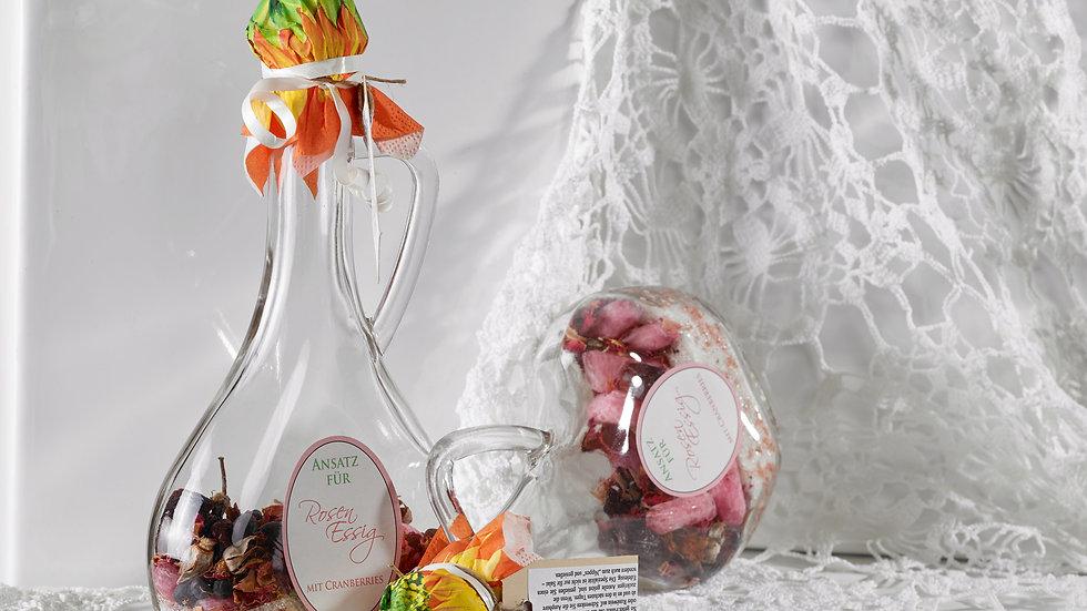 Rosen Esssig mit Cranberries