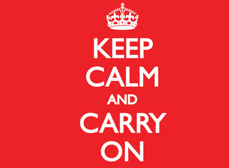 Keep Calm and Carry On(line)