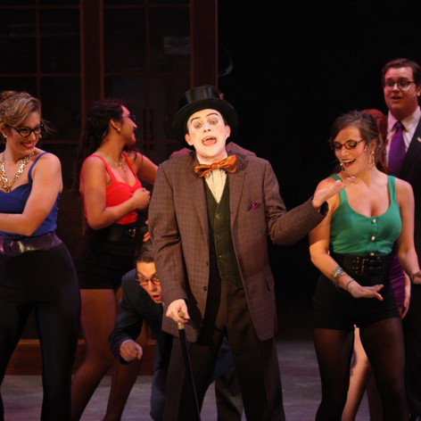 Caldwell B. Cladwell in Urinetown at Texas State University