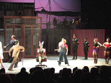 """""""Don't Be the Bunny"""" Caldwell B. Cladwell in Urinetown at Texas State University"""