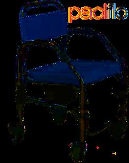 Cadeira banho 4 rodas
