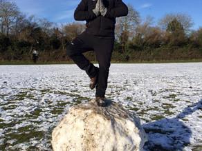 Orange Snowman Yoga