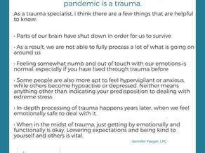 Living through this pandemic is a trauma
