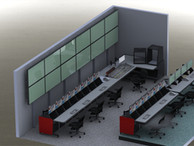 Production Control Room - 3D Rendering